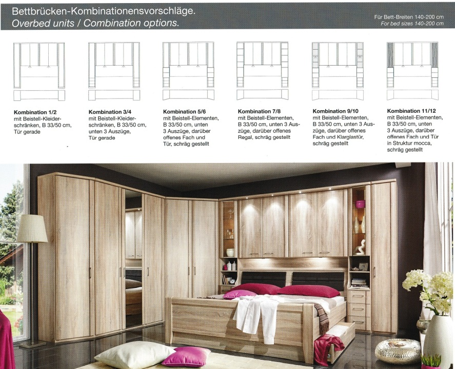 Foto Schlafzimmer Systemprogramm Bettbrücke