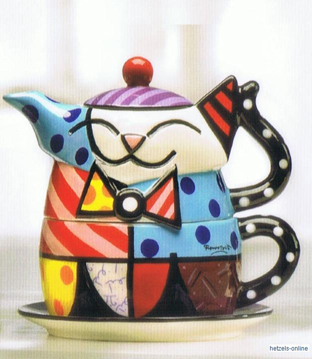 britto teekanne oben kanne unten tasse tea for one set. Black Bedroom Furniture Sets. Home Design Ideas